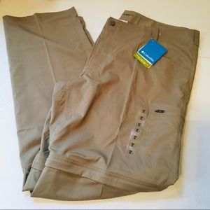 Columbia Omni shade convertible spf pants 44x34